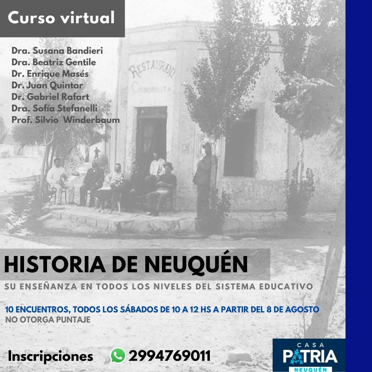 """SEMINARIO –  """"LA HISTORIA DE NEUQUÉN"""" – FINALIZADO"""
